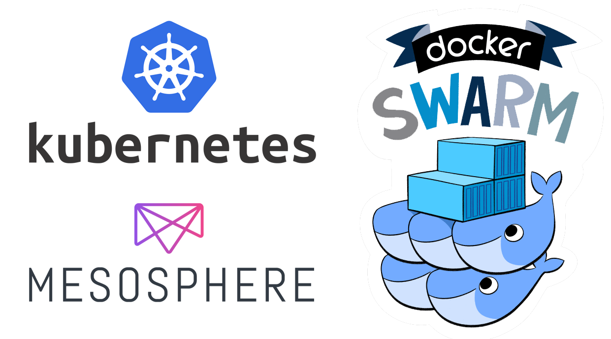 Manage database containers and other stateful containers with Kubernetes, Mesosphere DCOS and Docker Swarm