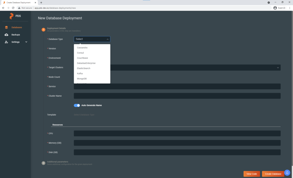 Portworx Data Services UI